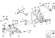 Ball Joint with Snap Ring for Wheel Carrier 33326767748