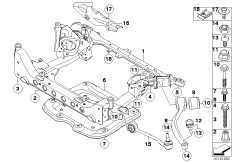 2006 Bmw 330xi E90 Front Suspension Diagram