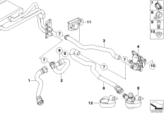 Auxiliary Water Pump for Heater System 64116988960