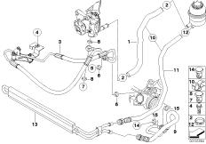 2001 Bmw 325i Power Steering Hose, 2001, Free Engine Image