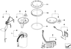 Fuel Filter with Pressure Regulator and Seal 16146766158