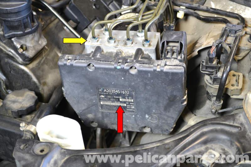 09 Chevy Silverado Wiring Diagram Brake Controller Mercedes Benz W203 Abs Control Module Replacement 2001