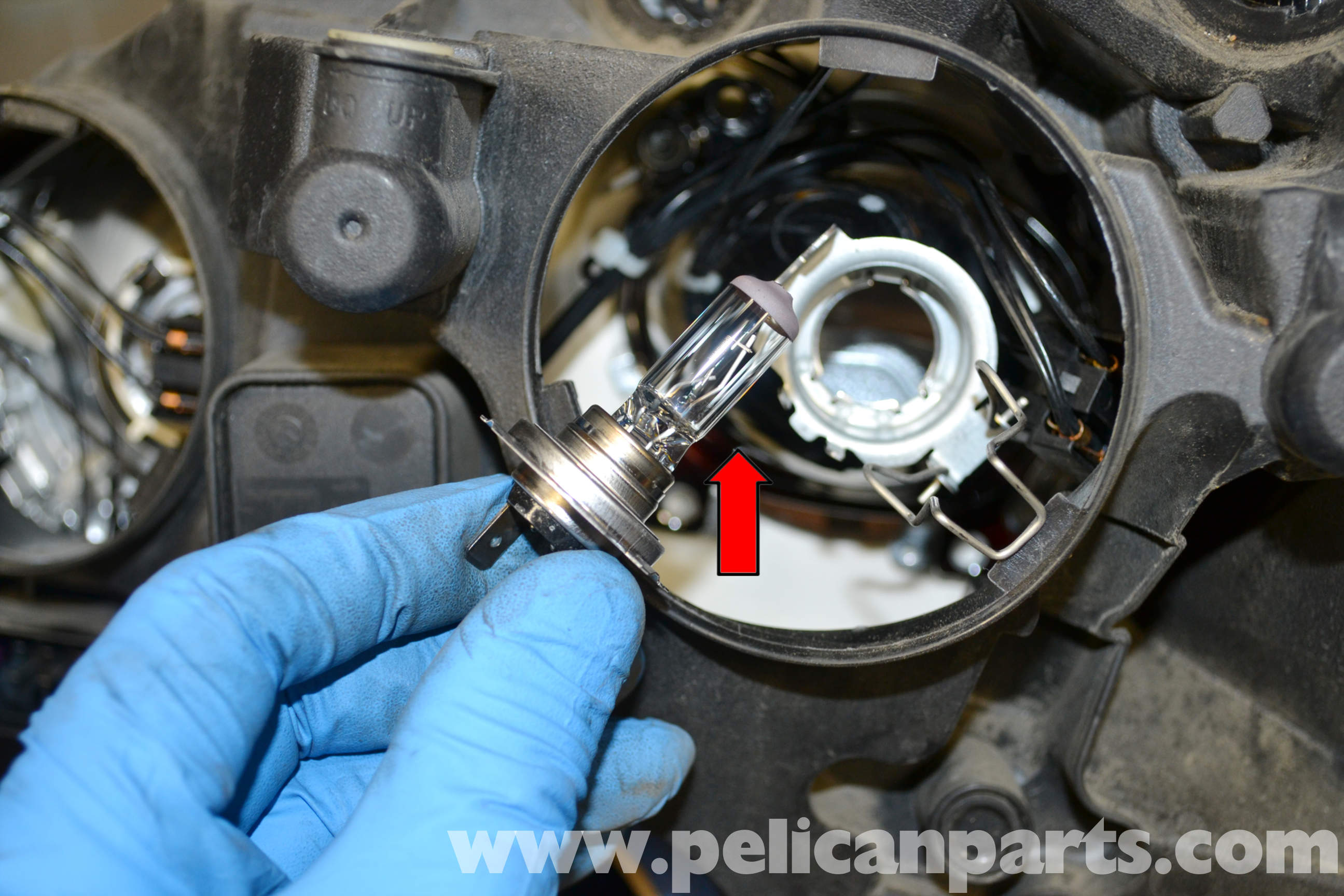 Mercedes Benz W204 Headlight Bulb And Assembly Replacement