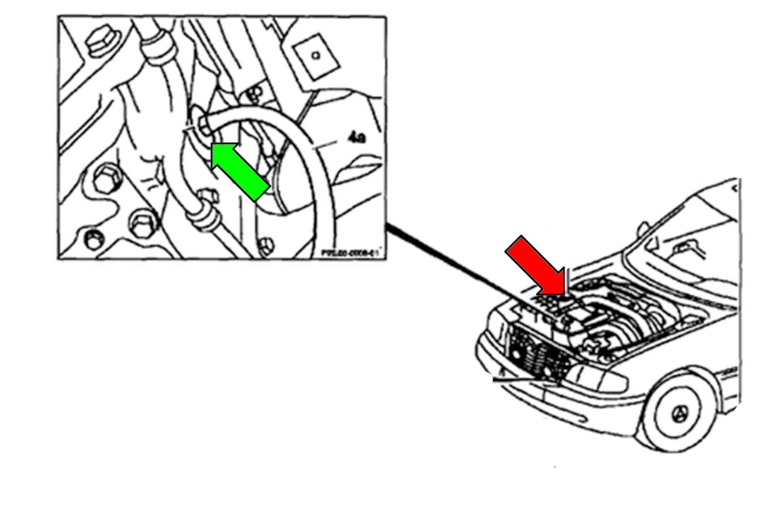 Mercedes-Benz W211 Coolant System Draining and Filling