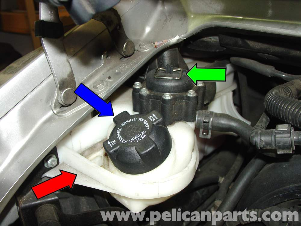 medium resolution of step 2 open cap on expansion tank