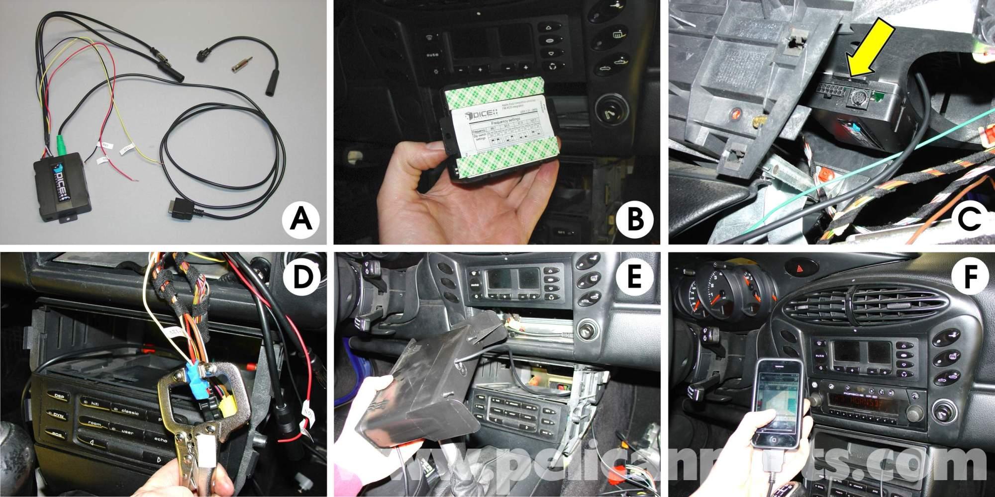 hight resolution of porsche 911 carrera radio head unit installation 996