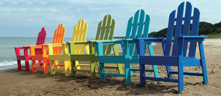 polywood adirondack chairs patio furniture chair pads set by pelican stores