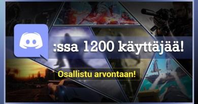 Discordissa yli 1200 käyttäjää!