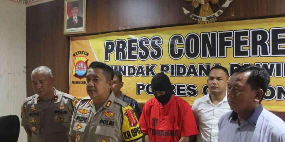 Kapolres Cilegon gelar Fress conference Motif Pembunuhan Istri dan Anak,Foto Pelita.co (Dok list)