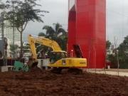 Mesin Eskavator Proyek Turab Kali Cisadane Dicuri Maling
