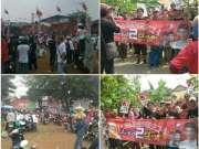 Posraya Indonesia Bagikan Bunga dan Bendera Untuk Kemenangan Arsid-Elvier