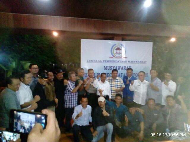 H. Idup Amsyar Terpilih Jadi Ketua LPM Kecamatan Cipondoh