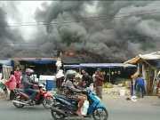 Pasar Kalodran Serang Hangus Terbakar