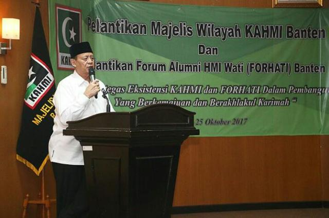 Wahidin Halim Ajak KAHMI Bangun Banten