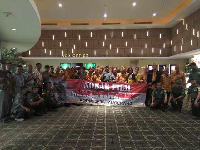 Kodim 0506/Tangerang Gelar Nobar Film Merah Putih Memanggil Bersama Veteran
