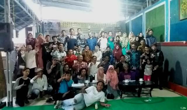Kawal Instruksi Bupati, Pegiat Literasi Lebak Halal Bihalal dan Diskusi