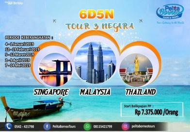 TOUR 3 NEGARA 6D5N ( Malaysia – Singapore – Thailand )