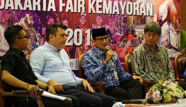 Sandiaga Uno Berharap Transaksi Event Jakarta Fair 2018 Dapat Mencapai Rp7 triliun