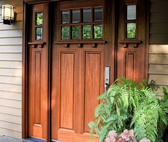 Architect Series Craftsman Style Wood Entry Door