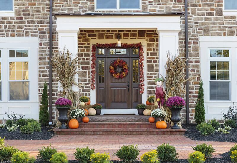 title | Multi Paned Bay Window Halloween Decoration