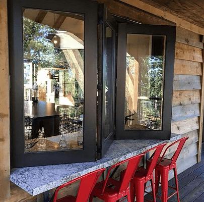 kitchen pass through window opens up to