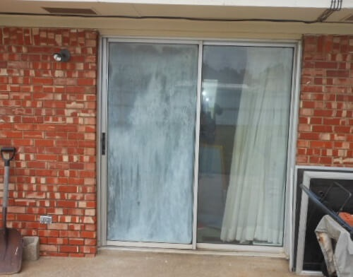 Before and After 1960s Patio Door Replacement