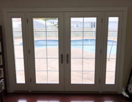 new patio door creates indoor outdoor