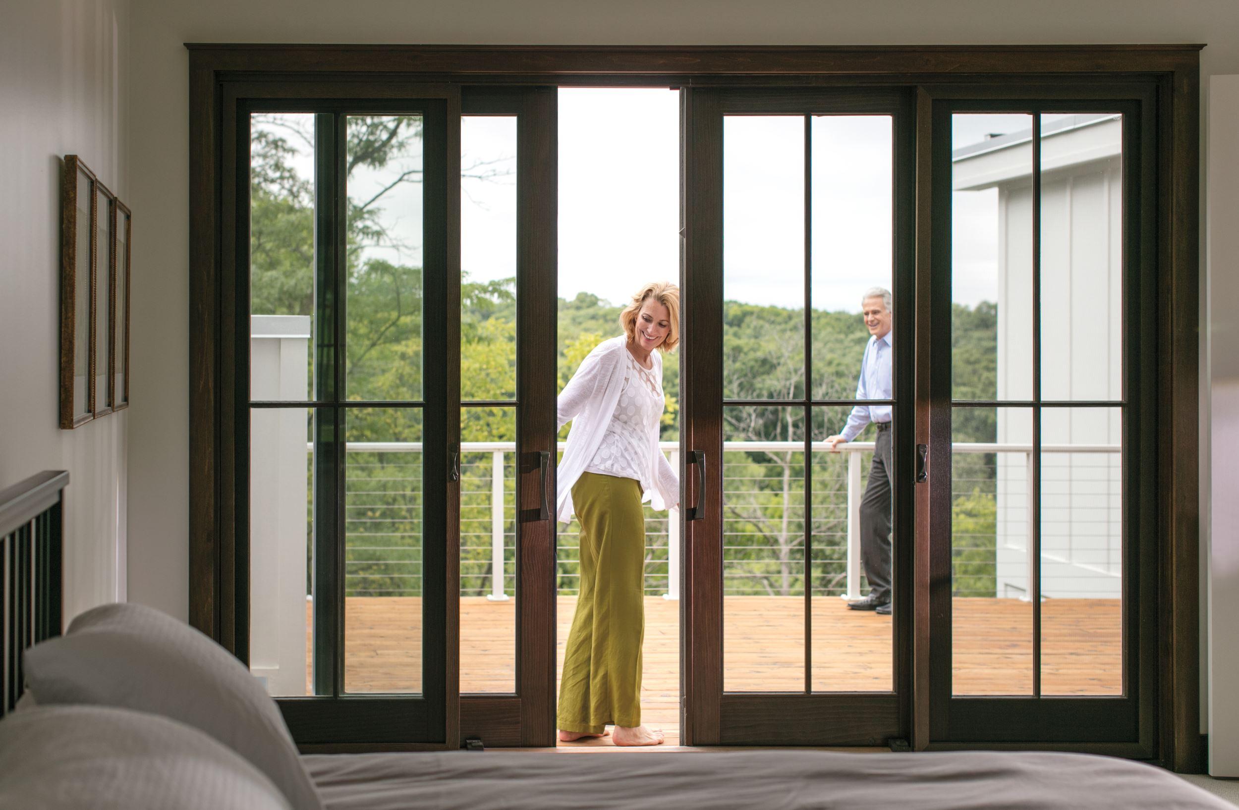 bifold patio doors blur indoor and