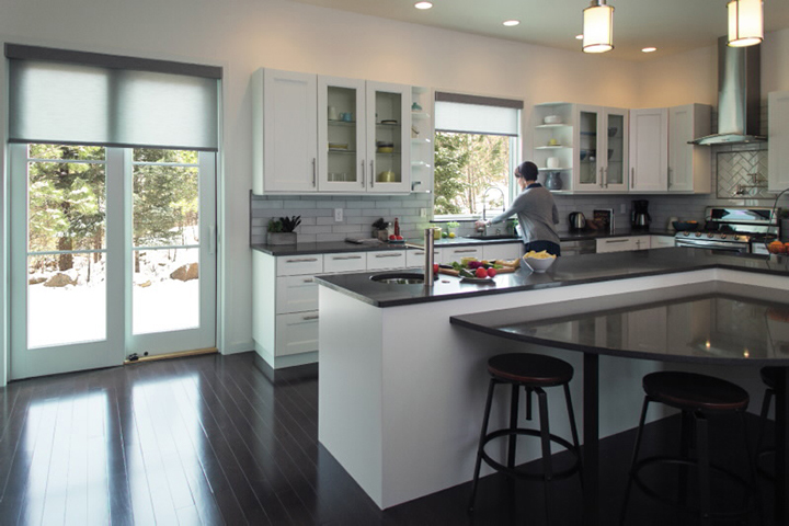 sliding doors connect indoor and