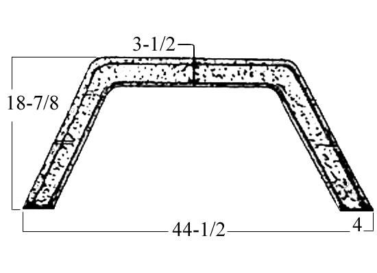 Fiberglass Fenderskirt 44 1/2 x 18-7/8 Fits Aluma Lite