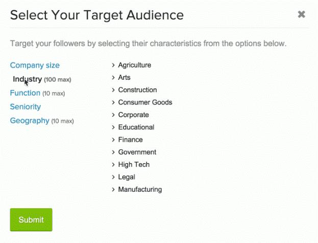 LinkedIn Page Entreprise ciblage