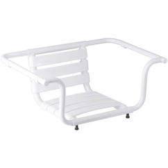 Bath Chair Accessories Adams Adirondack Stacking Adjustable Seat 420 X 890 260 Mm White Epoxy