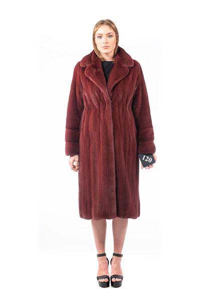 Cappotto in Visone rosso