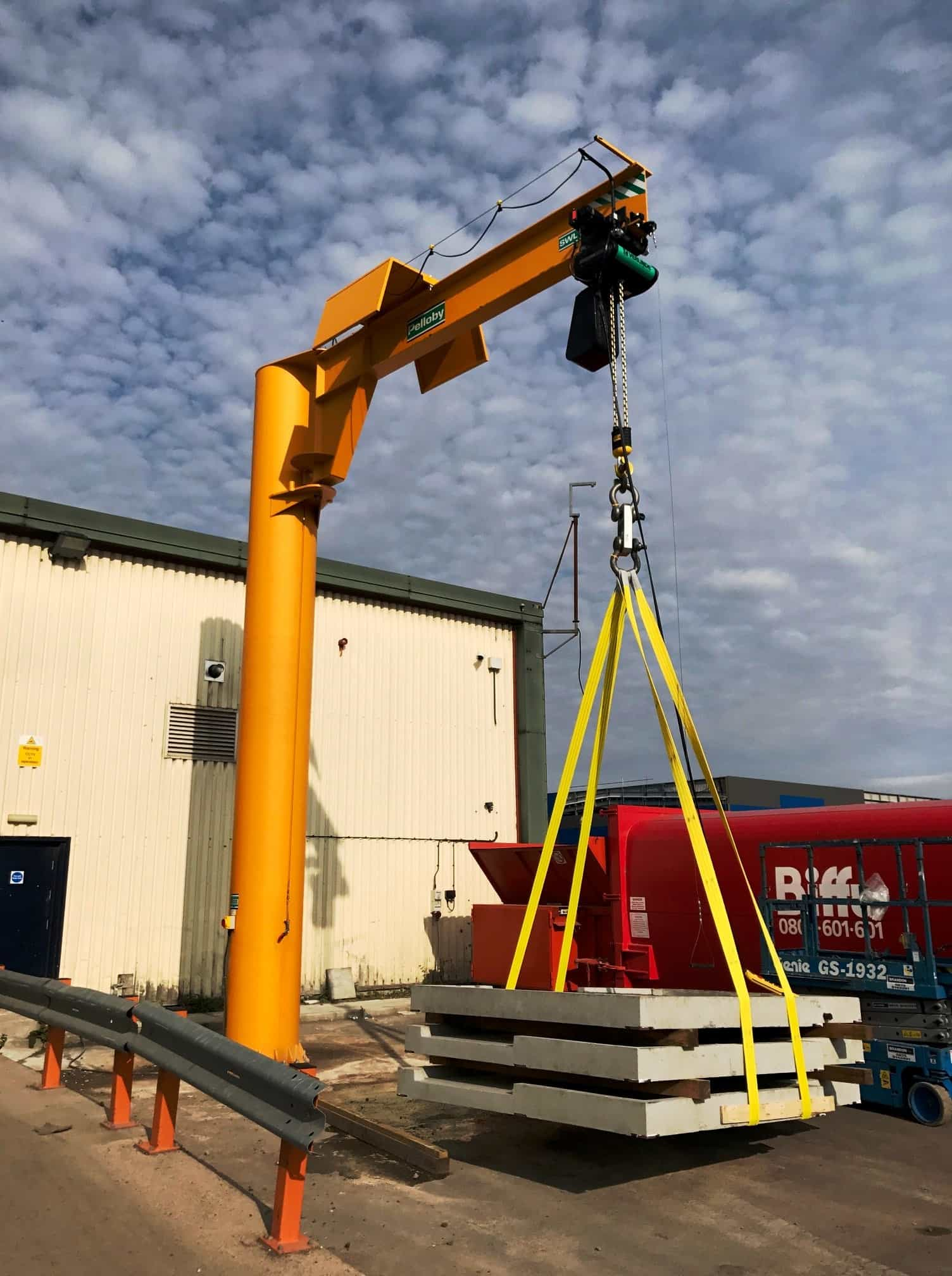 Pelloby manufacture five tonne jib crane for Somerset bathroom specialists