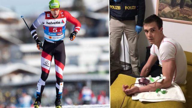 Esquiador preso em flagrante em auto-transfusão! Seis atletas e médico foram presos na Áustria
