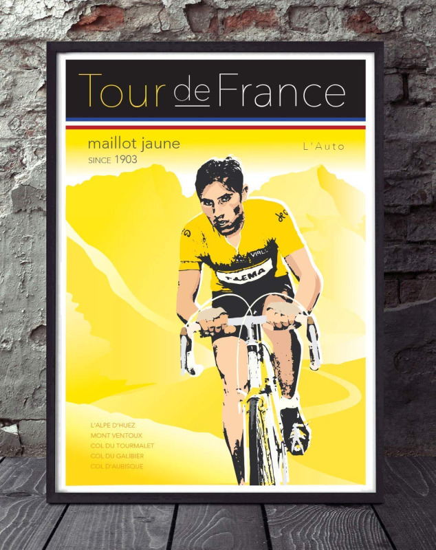 Poster do Tour de France, arte por GT Artworx