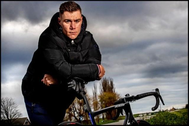 Fabio Jakobsen e sua bicicleta