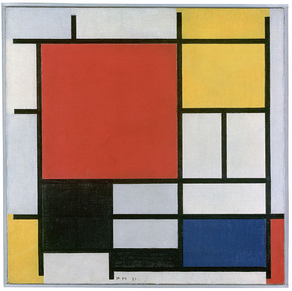 Composição em vermelho, amarelo, azul e preto de Piet Mondrian | Foto Kunstmudeum Den Haag