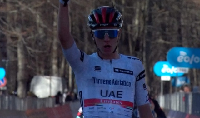 Pogacar vence chegada ao alto na Tirreno Adriático