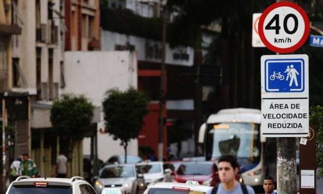 Via com Velocidade Reduzida em São Paulo | Foto Divulgação PMSP