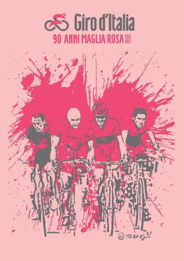 90 anos do maglia rosa | Arte RCS | Pelote Ciclismo