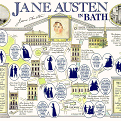 Plot Diagram Of Pride And Prejudice 2001 Holden Vectra Stereo Wiring Important Places In Jane Austen S Life Map A Scan Card With Information About Bath Novels Is