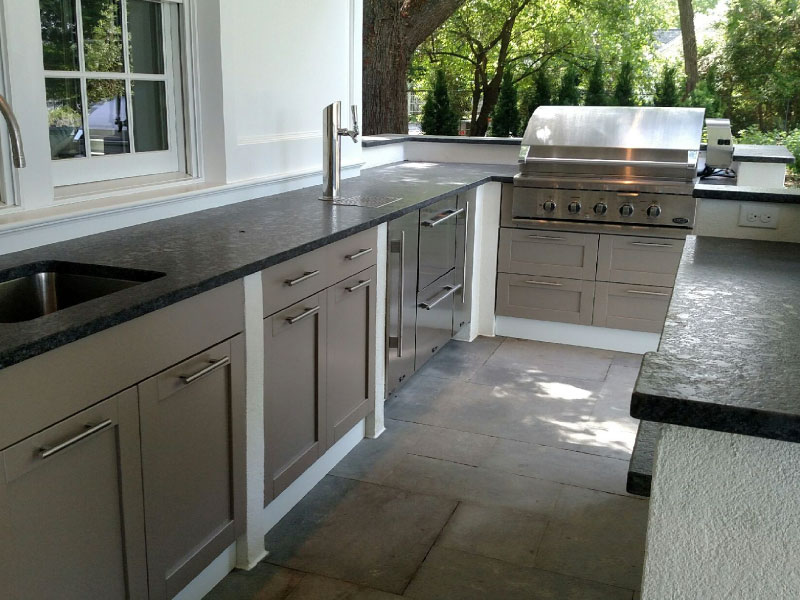 how to make an outdoor kitchen cabinet kings reviews salisbury custom design build weber danver pemberton appliance will sure that your works with landscaping creating a consistent fluidity throughout the of