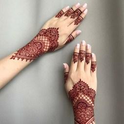 Hint kınası el dövme örnekleri 2019