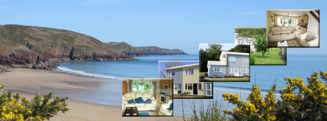 Pembrokeshire Wales Coastal Holidays Self catering accommodation at Freshwater Bay Holiday Cottages, Freshwater Bay