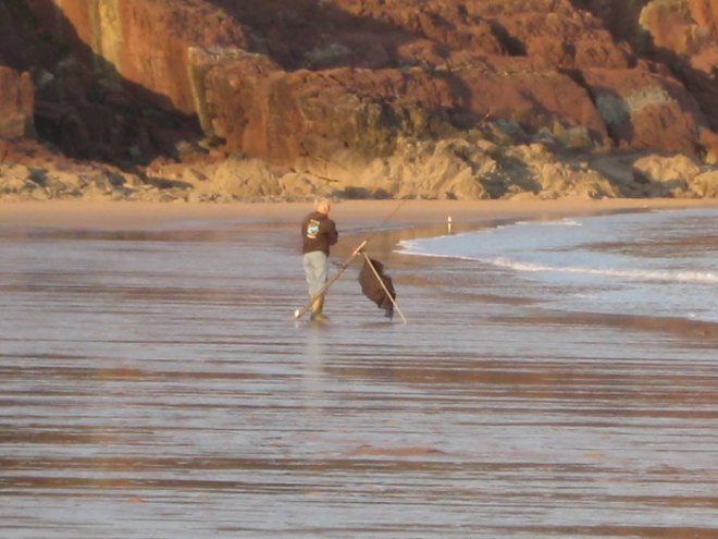 Beach Casting in the Pembrokeshire Coast National Park
