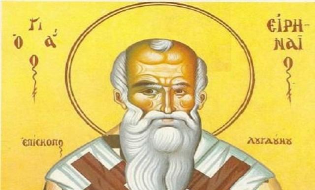 Αποτέλεσμα εικόνας για αγιος ειρηναιος επισκοπος λουγδουνου