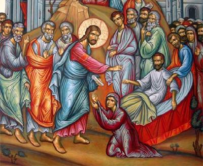 Αποτέλεσμα εικόνας για η ανάσταση του γιου της χήρας της Ναΐν