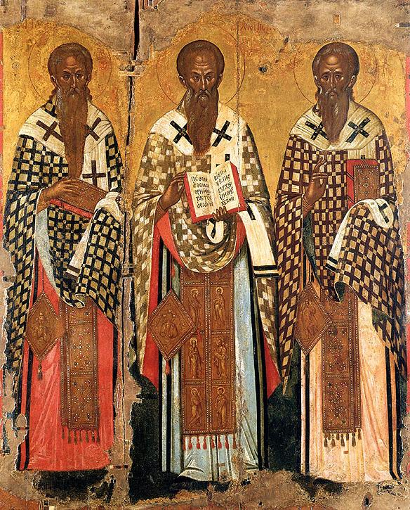Sfinţii Ierarhi Chiril al Ierusalimului, Andrei Criteanul, Sofronie al Ierusalimului, sec XVI, Muzeul Bizantin din Atena