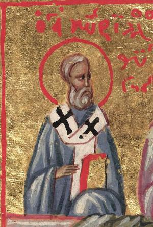 Sfântul Chiril al Ierusalim, Minologhion Bizantin, sec. XIV